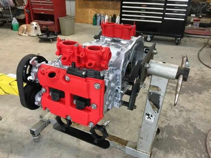 This Guy Turned His Smashed Car's Engine Into An Epic Coffee Table -13
